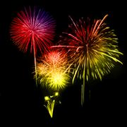 Fireworks in the night sky. Vector Stock Illustration