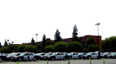 Los Angeles Sheriff Department Mobile Command Staging Area Stock Footage