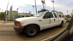 Police Escort For Protest Marchers In Los Angeles Stock Footage