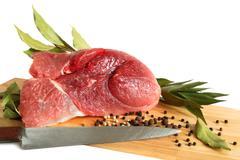 raw pork meat - stock photo