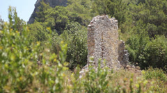 Ancient Cities of Olympos and Antalya Stock Footage