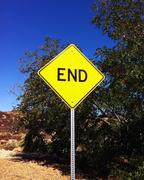 End Sign Stock Photos