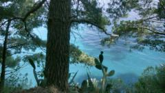 In the Shade on the Azure Coast of Positano Italy - 29,97FPS NTSC - stock footage
