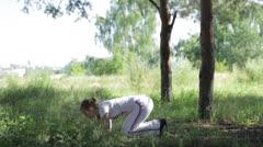 Asana pose 3 - stock footage