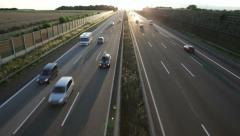 Highway Backlit A3 - stock footage