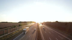 Highway Backlit - stock footage