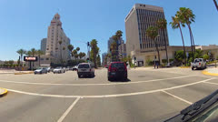 Driving Ocean Boulevard In Downtown Long Beach CA 3 Stock Footage