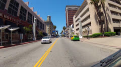 Driving On Pine Avenue In Downtown Long Beach CA Stock Footage