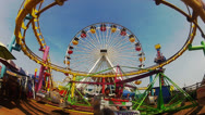 Stock Video Footage of People Enjoying Amusement Park Ride- Santa Monica Pier