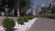 Stock Video Footage of Pedestrian footpath in central Antalya