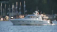 Boat bokeh Stock Footage