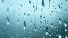 Rain Raining Against the Window on a Rainy Day - 29,97FPS NTSC Stock Footage