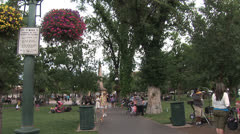 Santa Fe Plaza Time Lapse Stock Footage