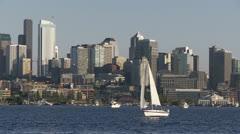 Sailboat, Seattle Stock Footage