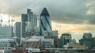 Stock Video Footage of Gherkin Building in London