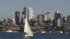 Sailboat, Seattle Stock Footage