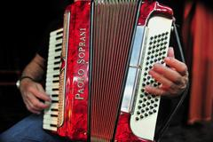music instrument - accordion - stock photo