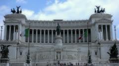 Altare della Patria Italy Rome - 29,97FPS NTSC Stock Footage