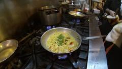 Cooking pasta Stock Footage