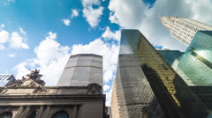 Met-Life Chrysler Grand Central Timelapse Famous Landmarks Manhattan NYC 4K Stock Footage