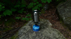 Small Portable Camp Stove Stock Footage