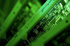 computer chip. - stock photo