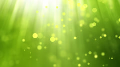 Lights Green background Loop Stock Footage
