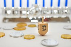 isolated obejects for hanukkah - stock photo