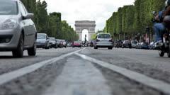 Arc de Triomphe in Paris Stock Footage