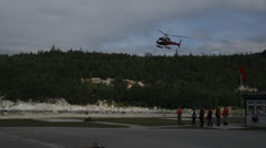 Tour Helicopter landing Stock Footage