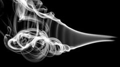 White abstract smoke pattern and curves Stock Illustration