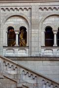 window reflex in neuschwanstein - stock photo