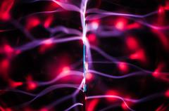 Plasma beams and traces in the dark Stock Illustration