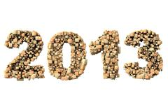 3d 2013 date build with wood particles - stock photo