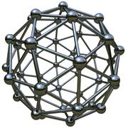 3d simulation of atomic structure Stock Illustration