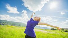 Relaxation exercise Stock Footage