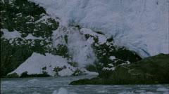 Calving Glacier,Tide water,rocks,Kenai Park,Ak Stock Footage