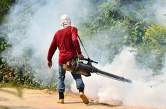 Fogging to prevent spread of dengue fever Stock Photos