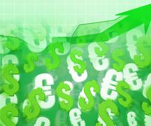 currency rise business backdrop - stock illustration