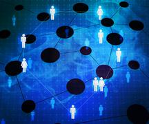 social network corporation texture - stock illustration