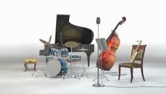 Jazz Band Studio Stock Footage
