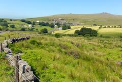 Merrivale Dartmoor Devon England - stock photo