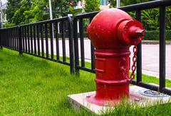 Fire hose water Stock Photos
