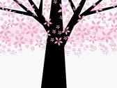 Stock Illustration of abstract pink floral tree