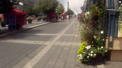 Steadicam City Walk in Montreal - stock footage