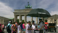 Stock Video Footage of Brandenburg Gate DDR Visa - Berlin, Germany