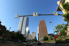 Driving Downtown Pittsburgh NTSC Stock Footage