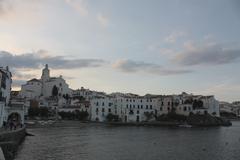 Panoramic cadaques, gerona Stock Photos