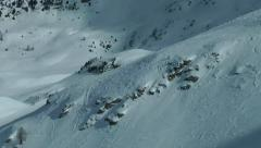 Freeride skier line Stock Footage
