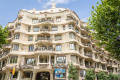 The casa mila, better known as la pedrera, in barcelona, spain Stock Photos